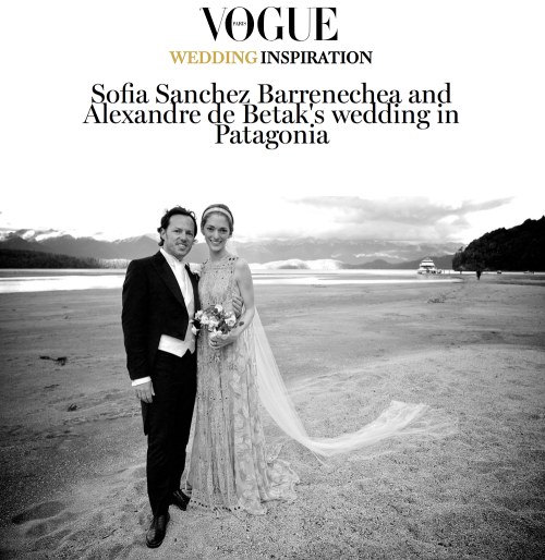 Sofia Sanchez Barrenechea and Alexandre de Betak's wedding in Patagonia