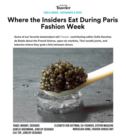 Where the insiders eat during Paris Fashion Week