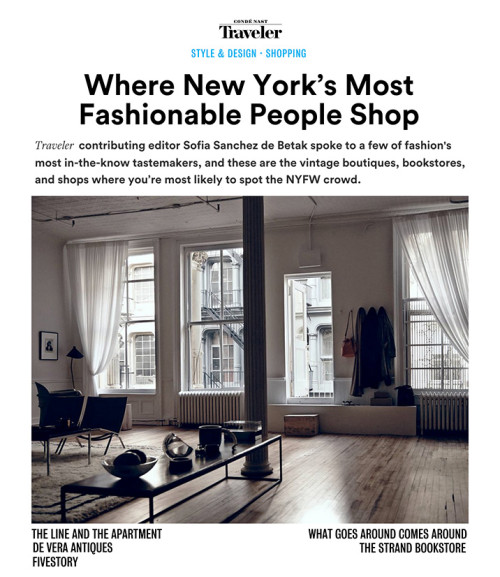 Where New York's most fashionable people shop
