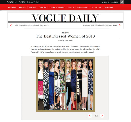 The Best Dressed Women of 2013
