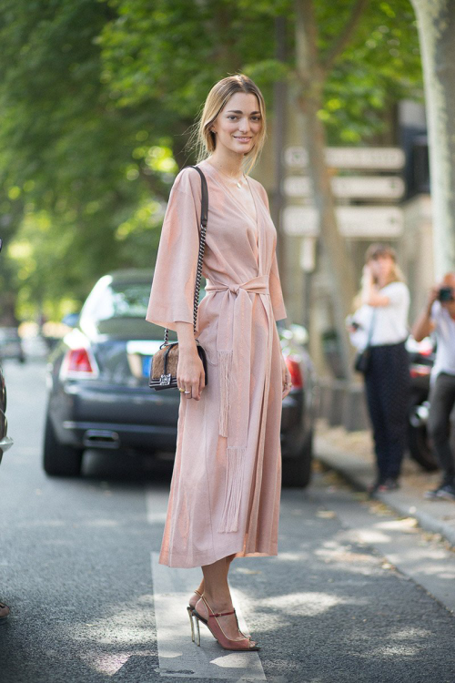 Outside Ulyana Sergeenko, Paris Couture