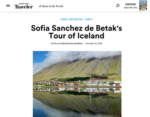 Sofia Sanchez De Betak's Tour of Iceland
