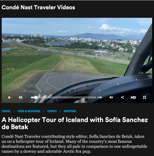 A Helicopter Tour with Sofia Sanchez de Betak