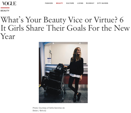 What's Your Beauty Vice or Virtue? 6 It Girls Share Their Goals For the New Year