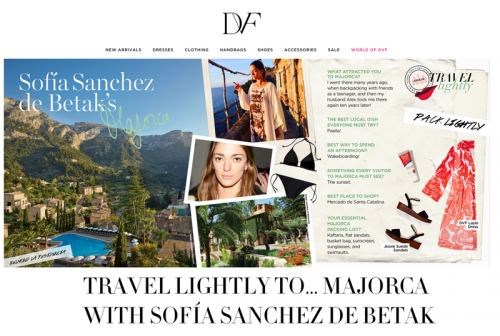 Travel Lightly to… Majorca with Sofia Sanchez de Betak