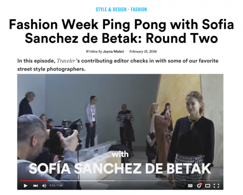 New York Fashion Week Ping Pong with Sofía Sanchez de Betak Part 2: Fashion Week Photographers