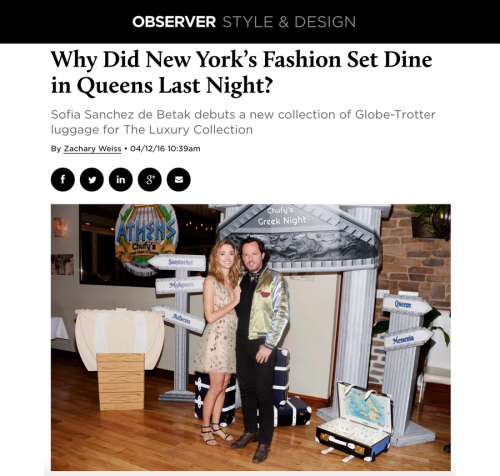 Why Did New York's Fashion Set Dine in Queens Last Night?