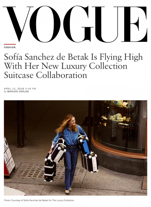 Sofía Sanchez de Betak Is Flying High With Her New Luxury Collection Suitcase Collaboration