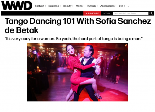 Tango Dancing 101 with Sofia Sanchez de Betak