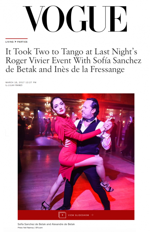 It Took Two to Tango at Last Night's Roger Vivier Event With Sofía Sanchez de Betak and Inès de la Fressange