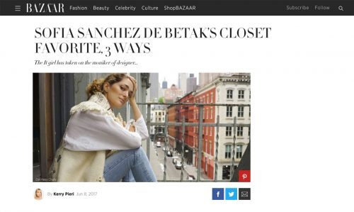 SOFIA SANCHEZ DE BETAK'S CLOSET FAVORITE, 3 WAYS