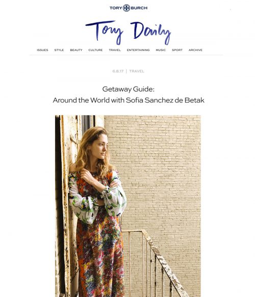 Getaway Guide: Around the World with Sofia Sanchez de Betak