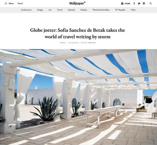 Globe jotter: Sofía Sanchez de Betak takes the world of travel writing by storm